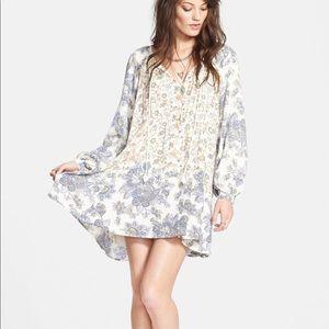 Free People Lucky Loosie floral boho peasant dress